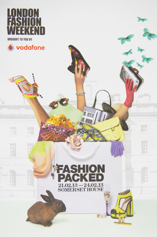L'affiche 2013 du London Fashion Weekend
