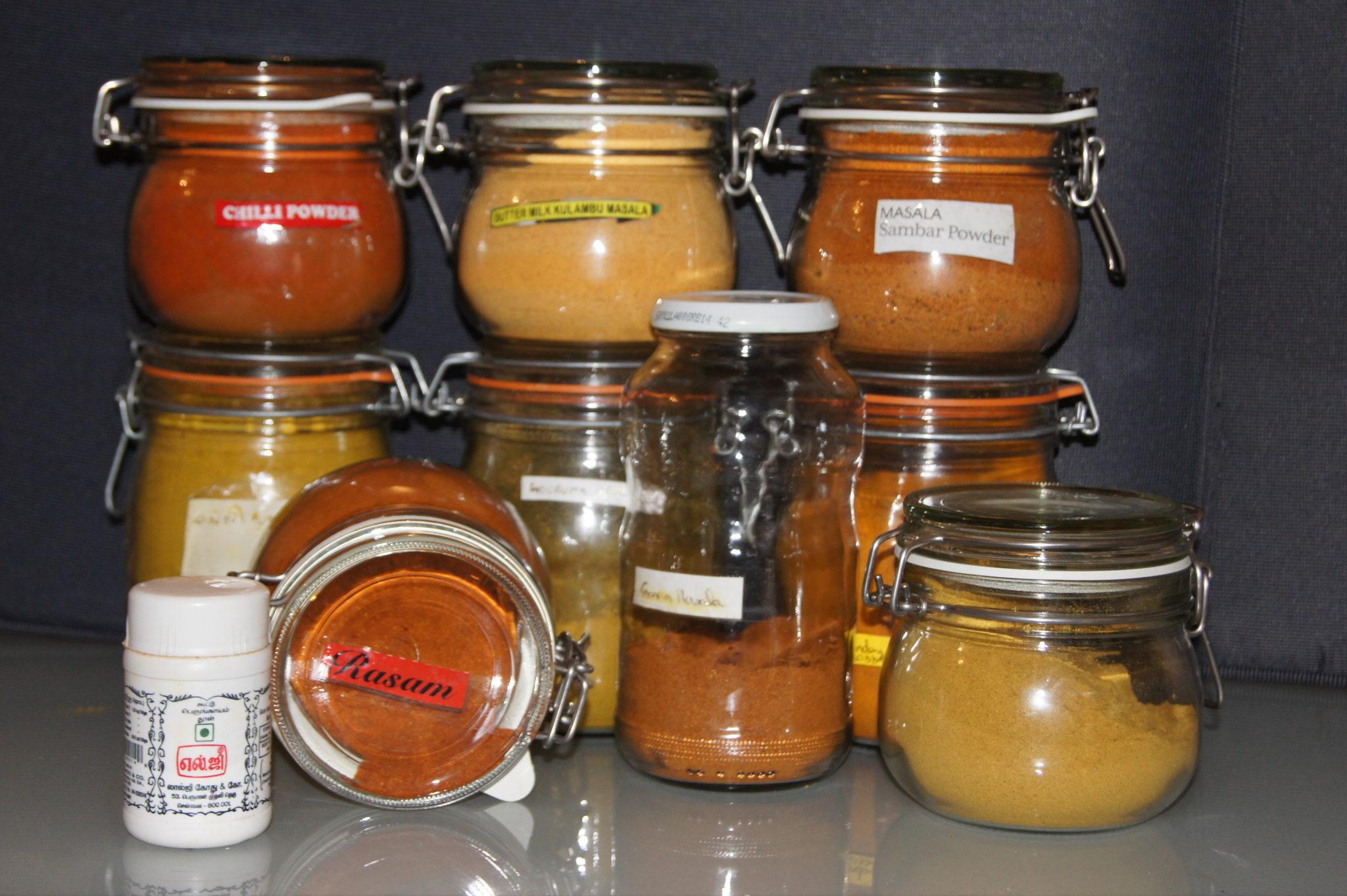 Les mélanges d'épices en poudre