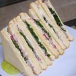Club sandwich radis roquette et fromage frais