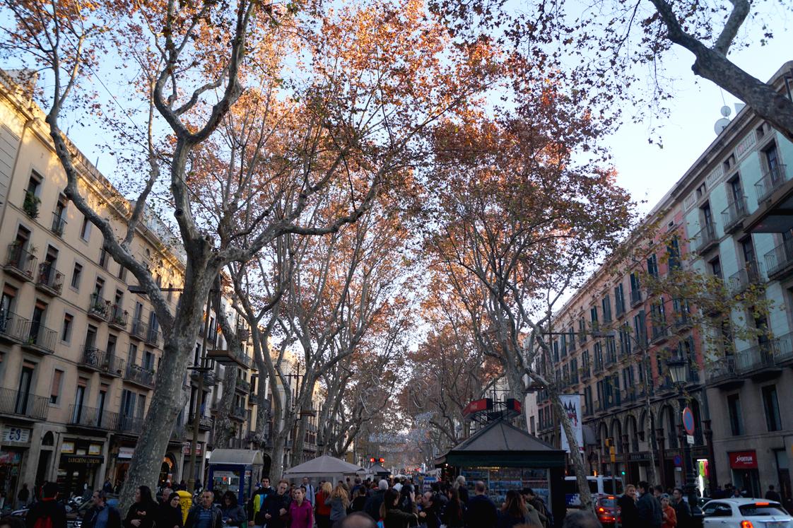 Hema_pose_ses_valises_barcelone_cityguide_la_rambla