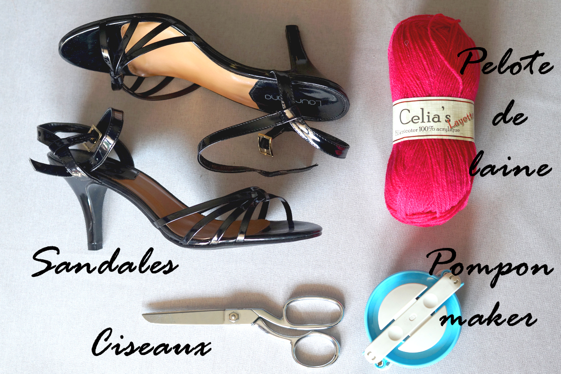 Hema_pose_ses_valises_diy_chaussures_pompons_doityourself_2