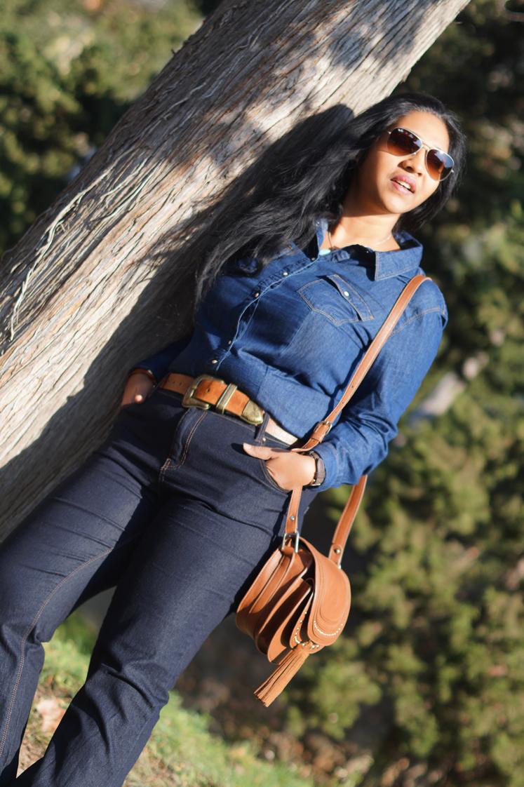 Hema_pose_ses_valises_look_fashion_denim_rayban_6