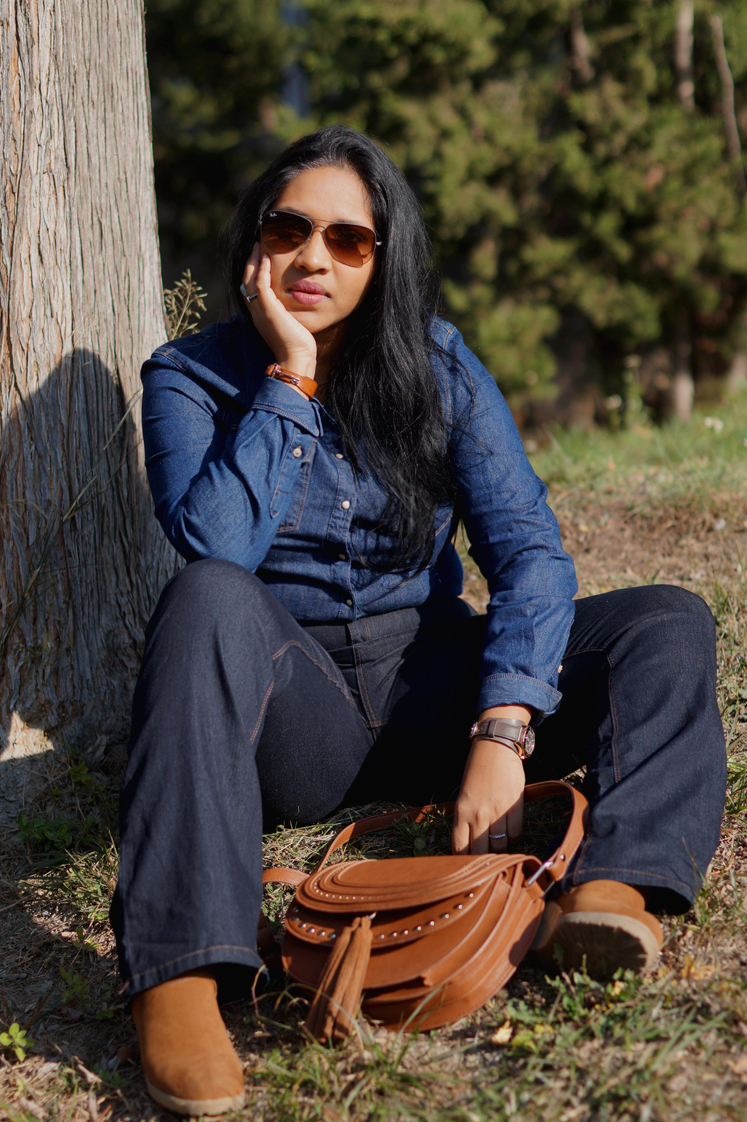 Hema_pose_ses_valises_look_fashion_denim_rayban_8