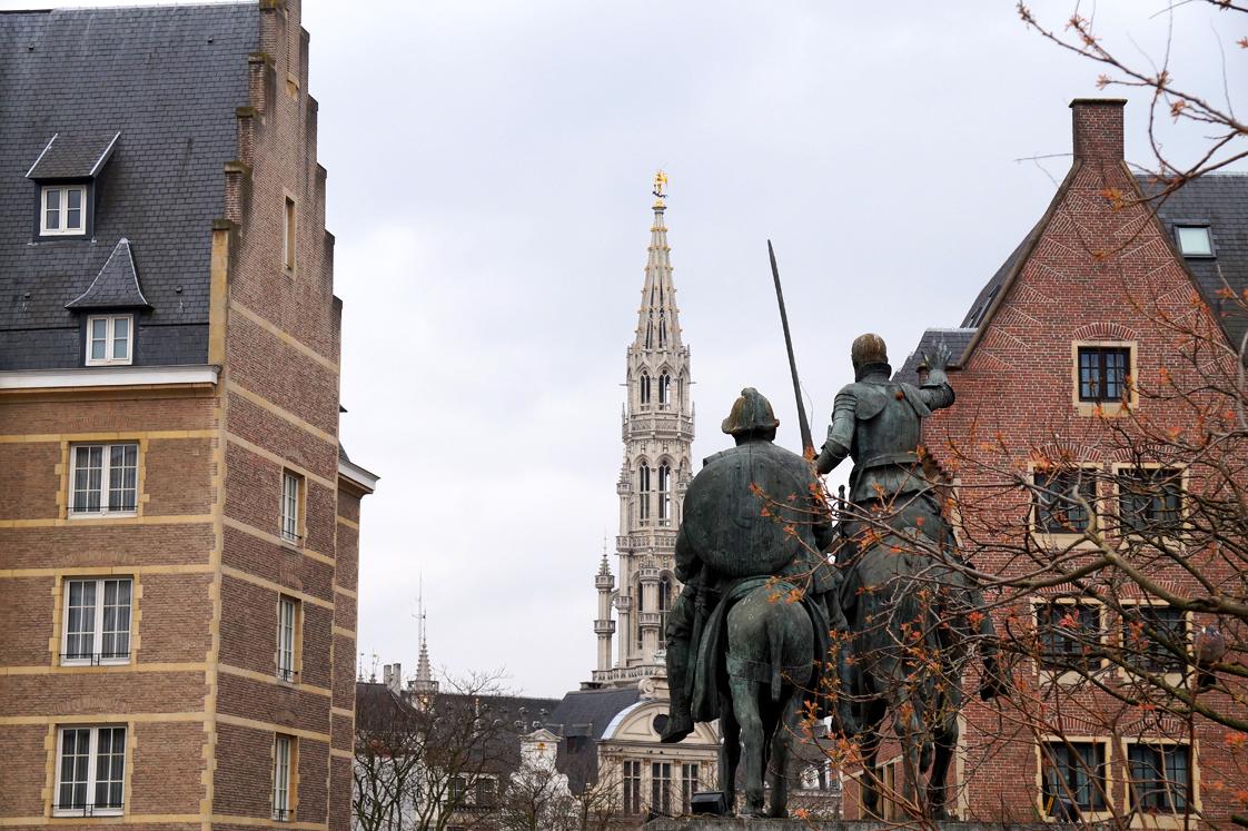 Hema_Bruxelles_Statue_don_quichotte