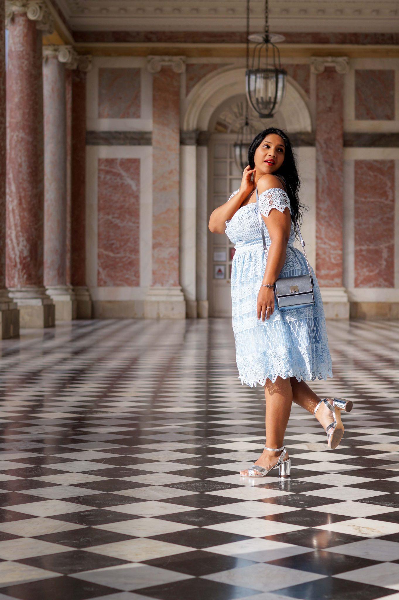 Tenue de princesse au trianon de Versailles