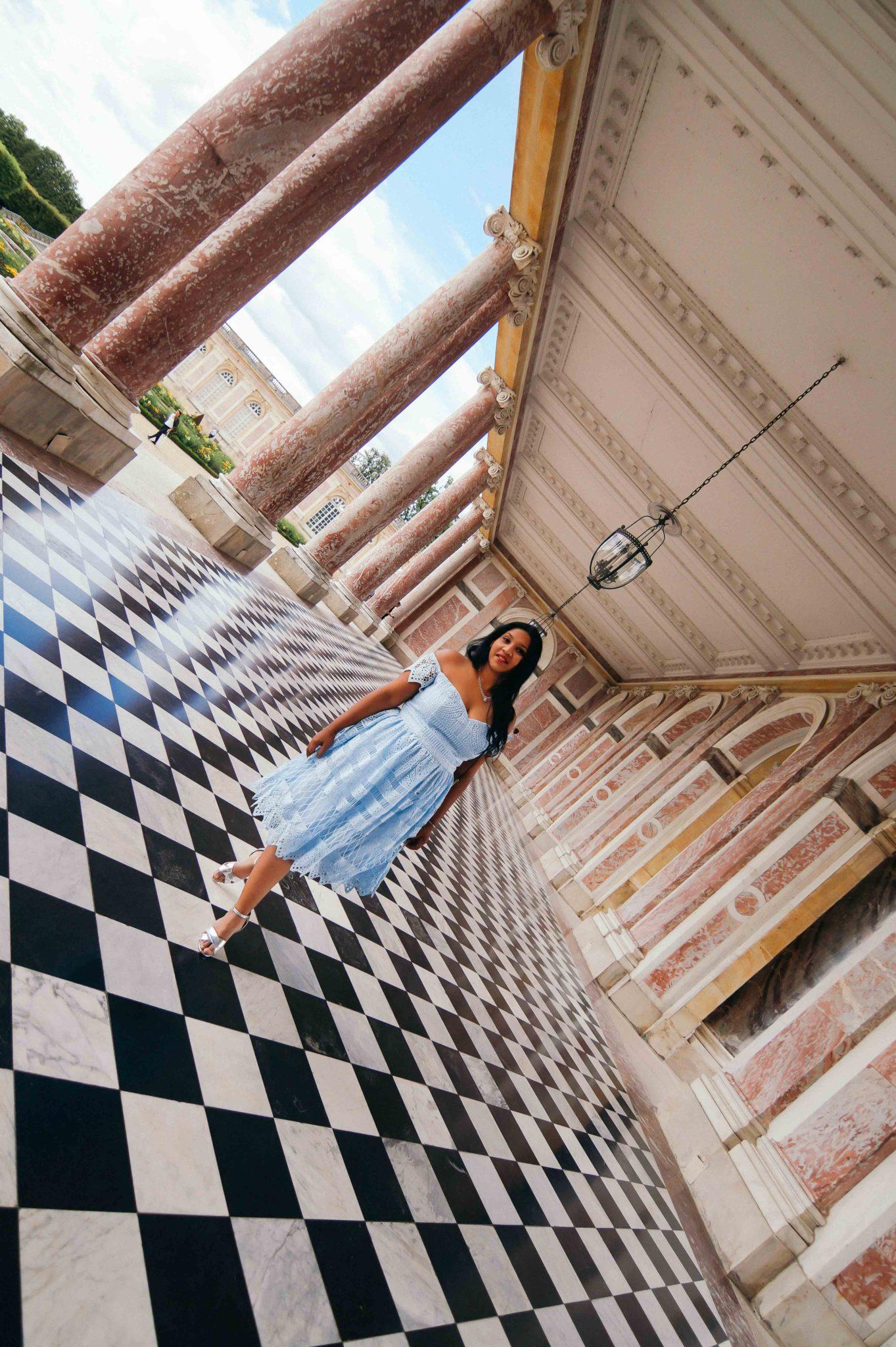Jeu de perspective au Trianon de Versailles