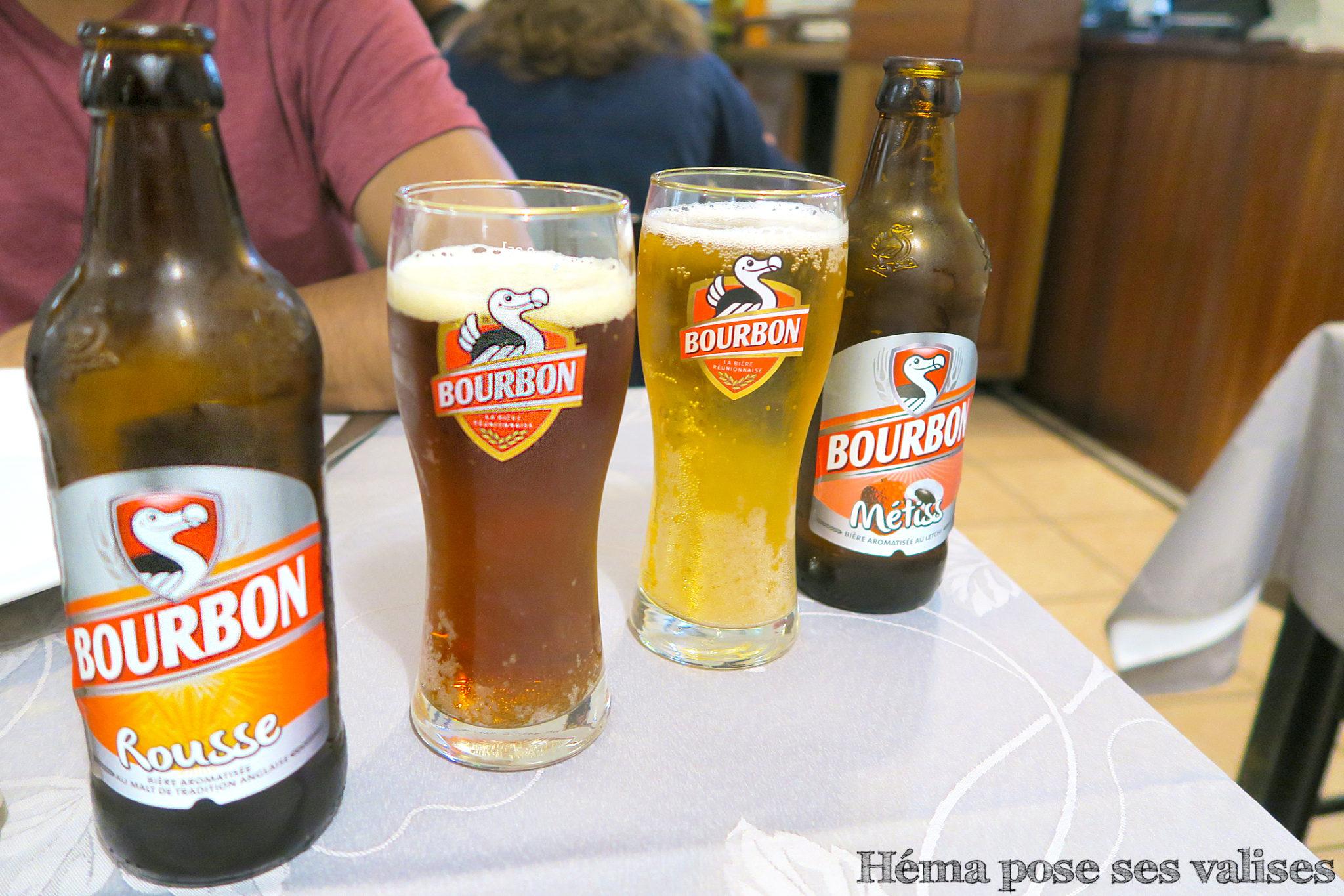 Deux variétés de bière Bourbon la rousse et la métiss à La Réunion