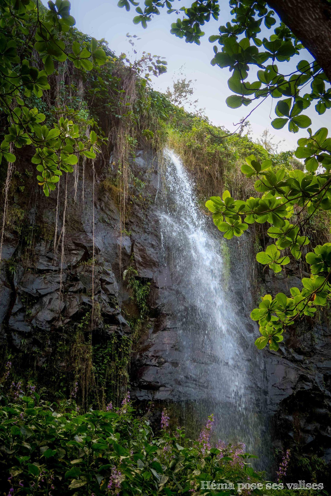 Une des nombreuses cascades de l'anse des cascades à La Réunion