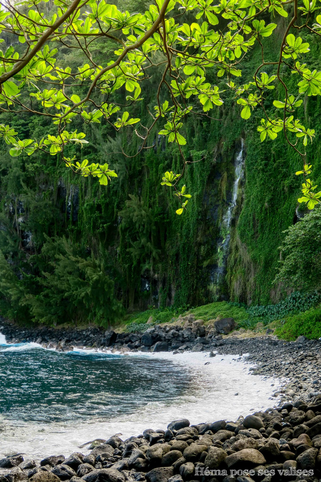 Les cascades de l'anse des cascades rejoignent l'Océan Indien à La Réunion