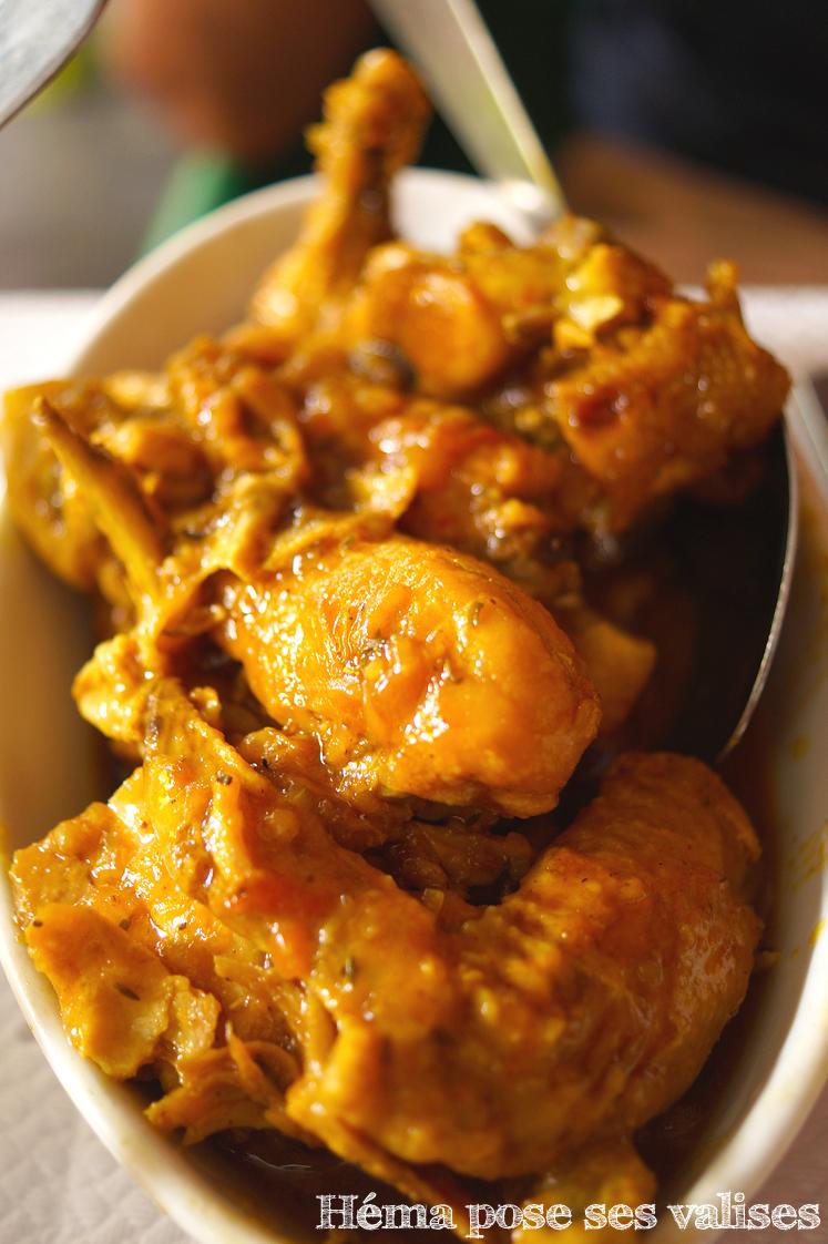 Plat typique sucré salé de La Réunion, le poulet à la vanille