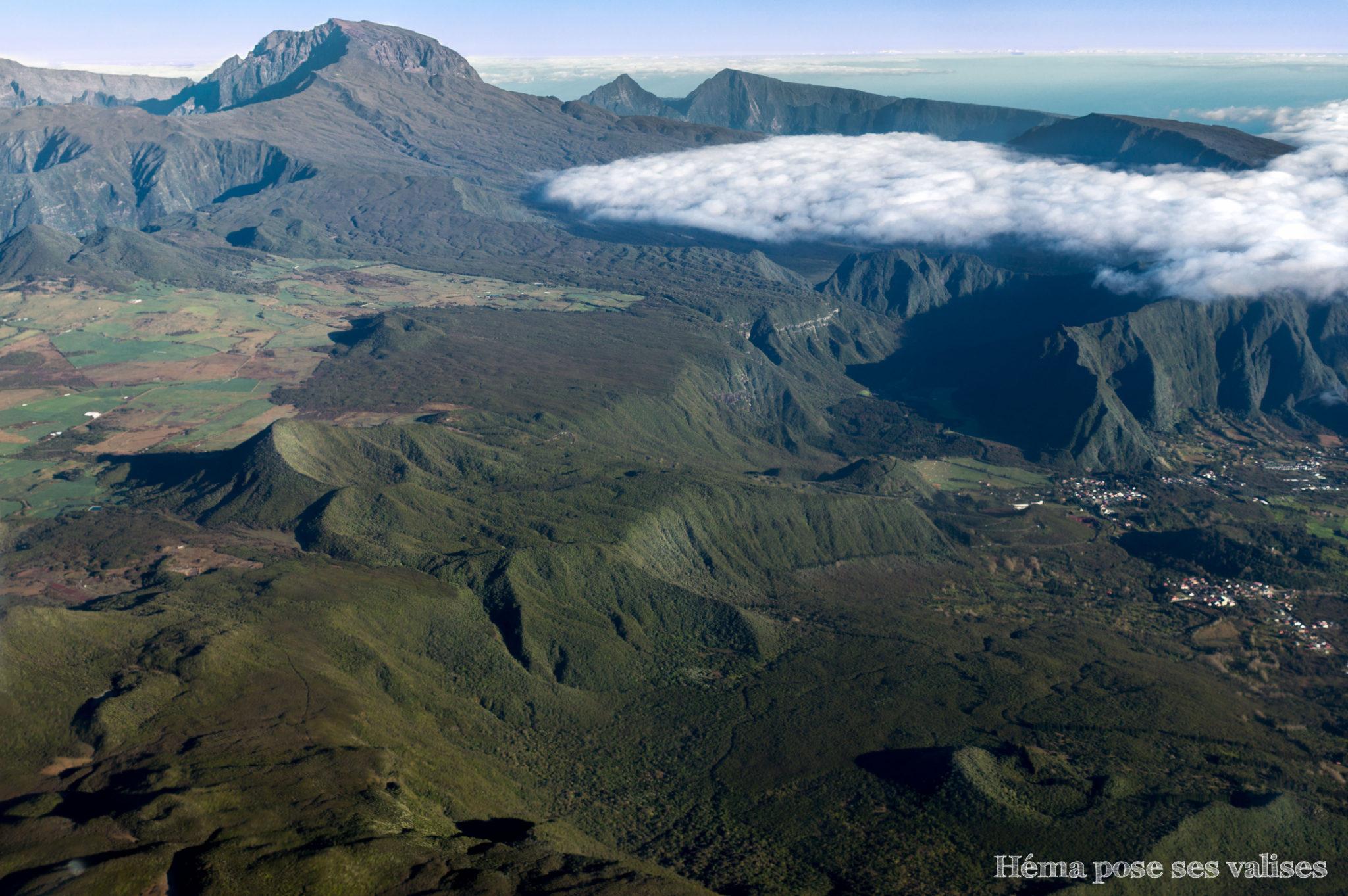 Vue sur la plaine des cafres de La Réunion