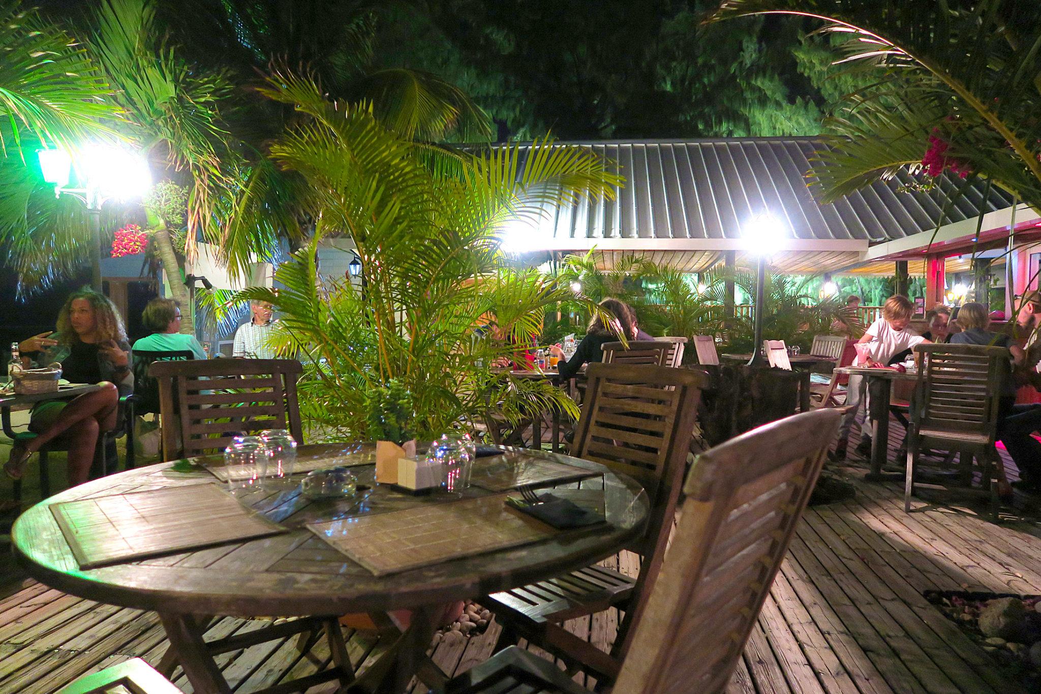 Terrasse du restaurant Le Lagon à Saint Paul de La Réunion