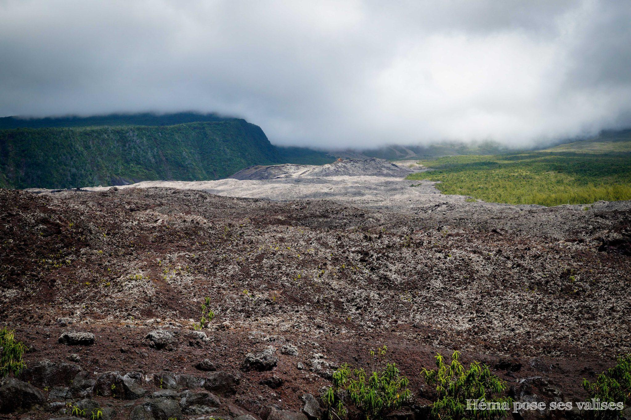 Paysage du Grand Brûlé à La Réunion
