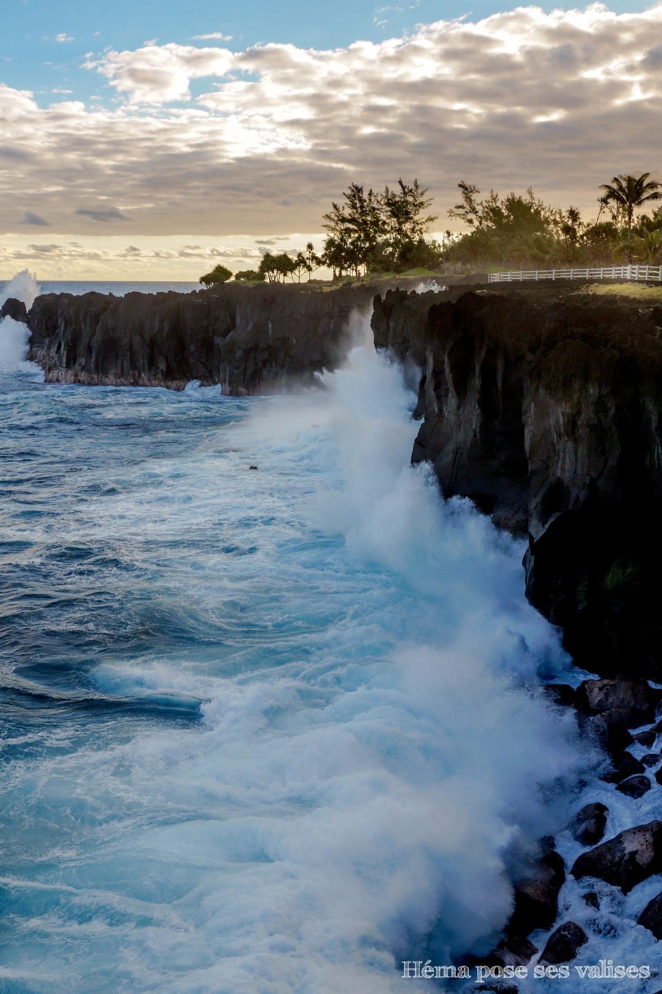 Coucher de soleil sur le puits des anglais à La Réunion