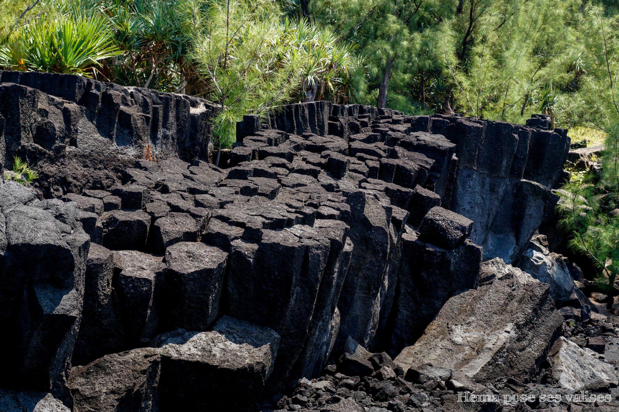 Formations géologiques des coulées de lave à La Réunion