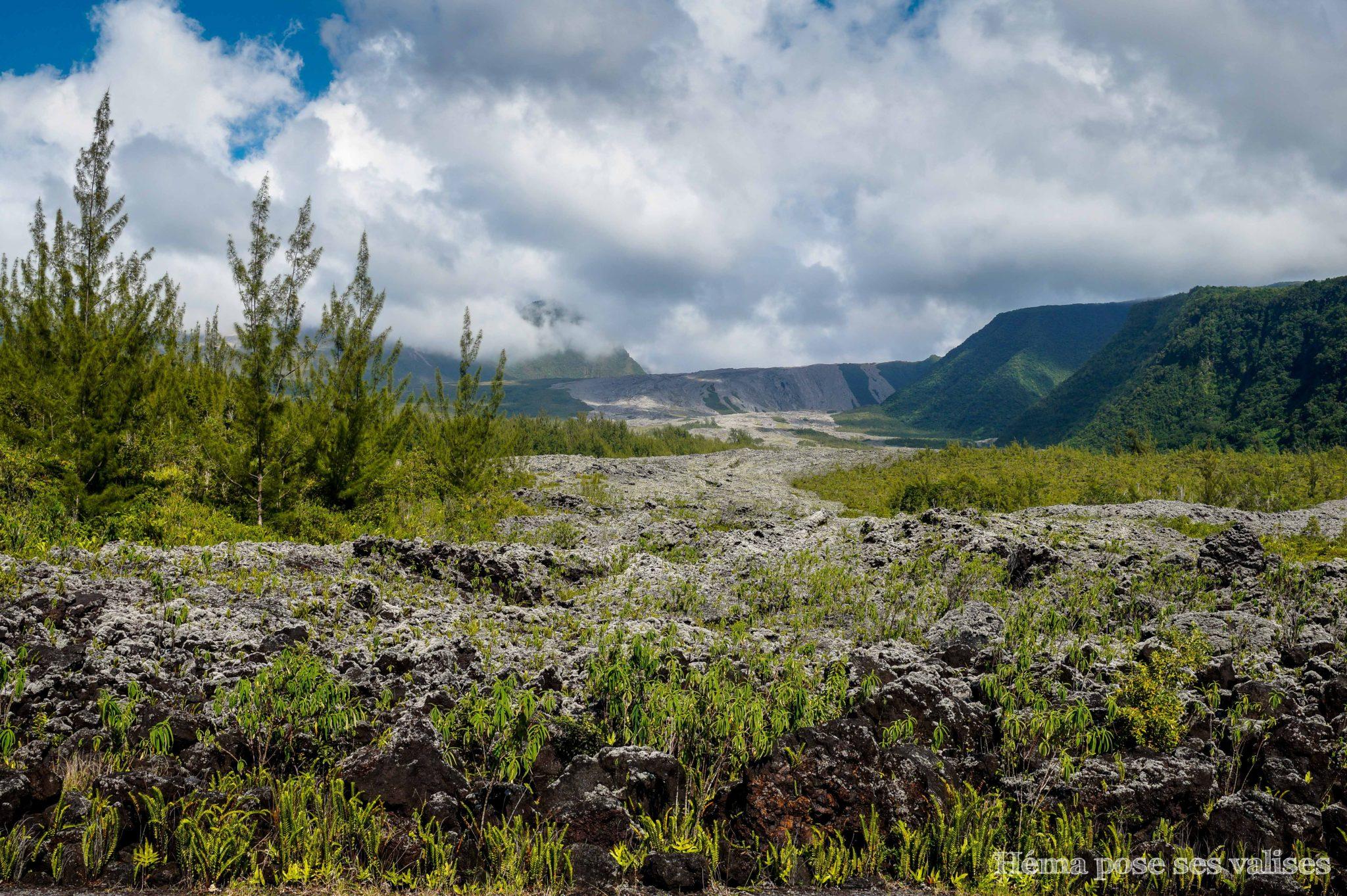 Coulées de lave du Grand Brûlé à La Réunion