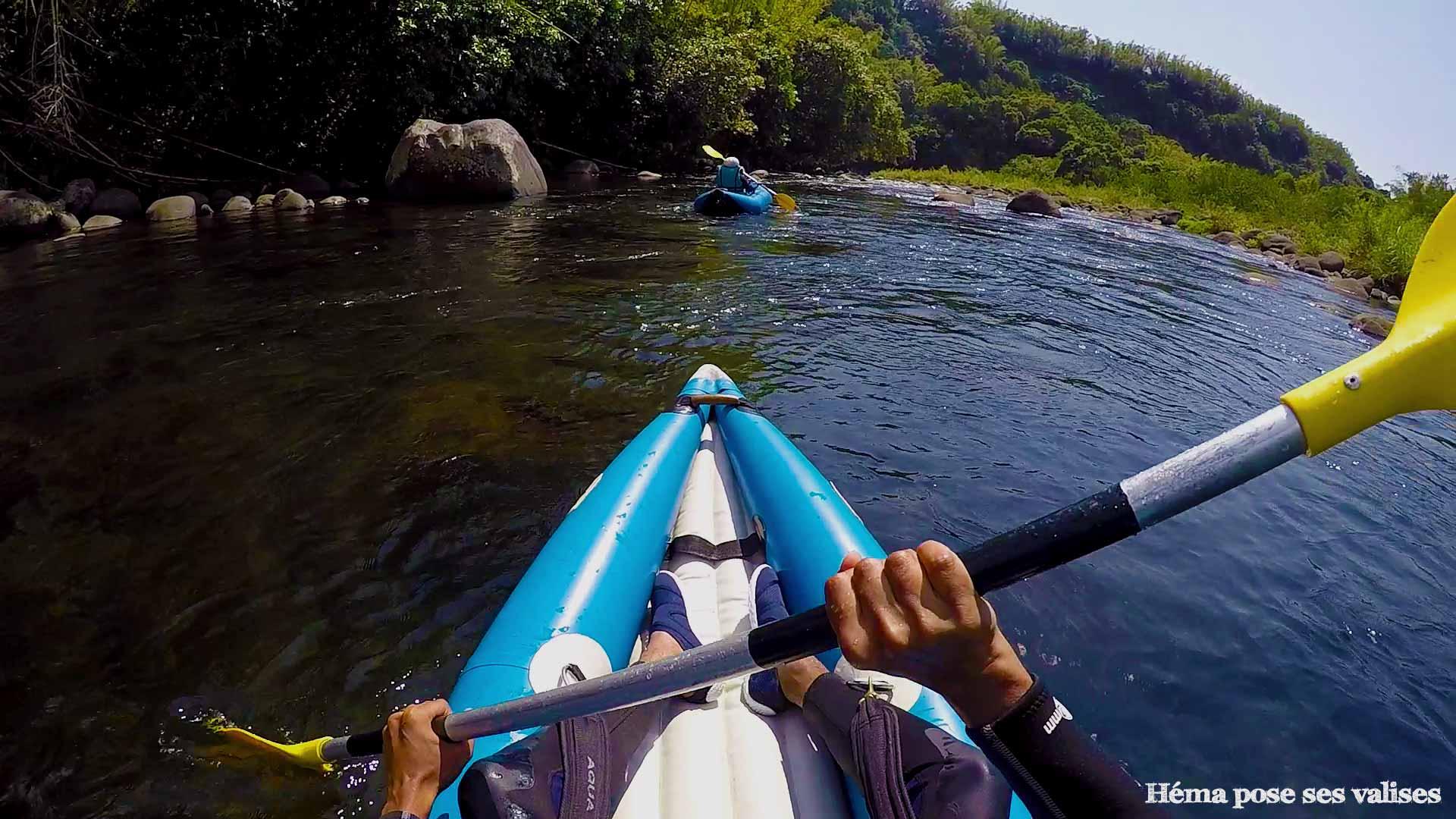 Mono kayak à l'île de La Réunion