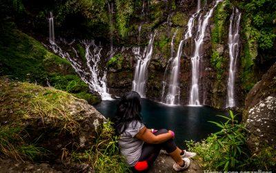 Observation de la cascade Grand Galet appelée aussi cascade Langevin à La Réunion